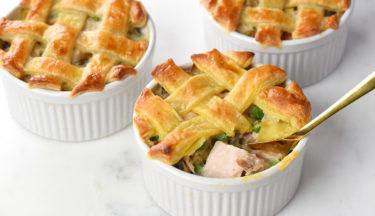mini puff pastry turkey pot pies