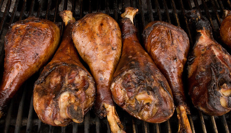 Barbequing Turkey